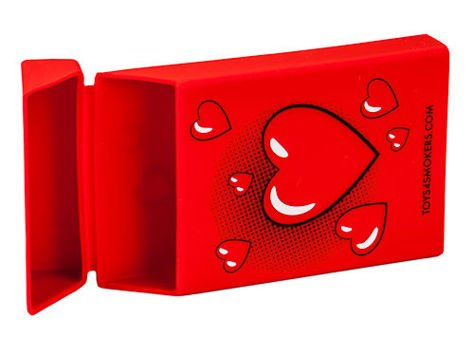 toys4smokers SLIM/Etui silikonowe na papierosy -Red heart                              zdj.                              4