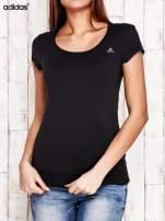 ADIDAS Czarny gładki t-shirt                                   zdj.                                  1