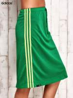 ADIDAS Zielona spódnica z lampasami                                  zdj.                                  2