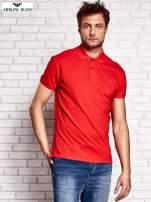 ARMANI JEANS Czerwona koszulka polo męska                                  zdj.                                  1