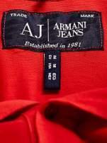 ARMANI JEANS Czerwona koszulka polo męska                                  zdj.                                  4
