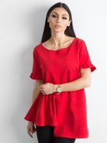 Asymetryczna bluzka czerwona                                  zdj.                                  1