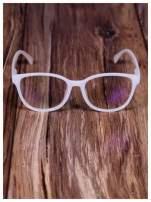 BIAŁE! Modne okulary zerówki klasyczne - soczewki ANTYREFLEKS,system FLEX na zausznikach                                                                          zdj.                                                                         2