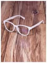BIAŁE! Modne okulary zerówki klasyczne - soczewki ANTYREFLEKS,system FLEX na zausznikach                                                                          zdj.                                                                         3