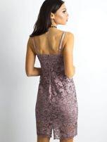 BY O LA LA Różowa sukienka koronkowa                                  zdj.                                  2