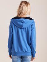Bawełniana bluza z kapturem niebieska                                  zdj.                                  2