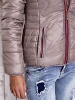 Beżowa pikowana kurtka z futrzaną podszewką                                  zdj.                                  9