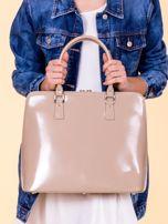 Beżowa torba damska z odpinanym paskiem                                  zdj.                                  5