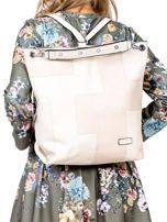 Beżowa torba-plecak z odpinanymi szelkami                                  zdj.                                  2