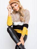 Beżowo-biały sweter Denise                                  zdj.                                  1
