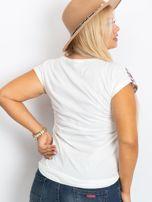 Beżowo-brązowy t-shirt East PLUS SIZE                                  zdj.                                  2