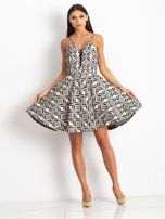 Beżowo-czarna sukienka Play                                  zdj.                                  4