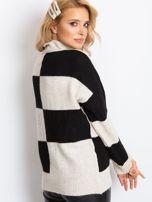 Beżowo-czarny sweter Francesca                                  zdj.                                  2