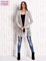 Beżowy sweter w stylu boho                                  zdj.                                  2