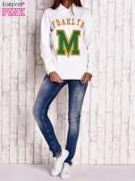 Biała bluza z kapturem i napisem FRAKLYN M