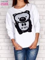 Biała bluza z nadrukiem pandy