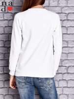 Biała bluza z napisem LOVE                                  zdj.                                  4