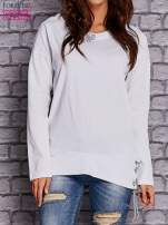 Biała bluza z wiązaniami                                  zdj.                                  1