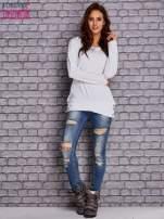 Biała bluza z wiązaniami                                  zdj.                                  4