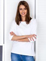 Biała bluzka z bocznymi suwakami                                  zdj.                                  1
