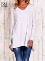 Biała bluzka z rozporkami z boku                                  zdj.                                  1