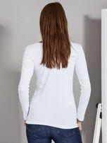 Biała bluzka z zatrzaskami przy dekolcie                                   zdj.                                  2