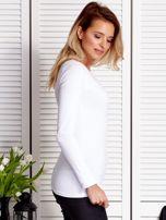 Biała bluzka ze sznurowaną wstawką                                  zdj.                                  5