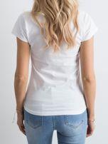 Biała damska koszulka z napisem                                  zdj.                                  2