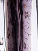 Biała fakturowana torba z odpinanym paskiem                                  zdj.                                  5