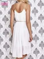 Biała grecka sukienka ze złotym paskiem                                  zdj.                                  4