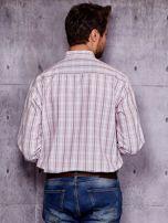 Biała koszula męska w kratkę PLUS SIZE                                  zdj.                                  2