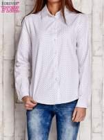 Biała koszula w drobne listki                                  zdj.                                  1