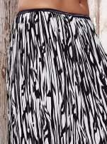 Biała plisowana spódnica midi z brokatem                                                                          zdj.                                                                         4