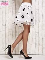 Biała spódnica mini w kwiaty                                  zdj.                                  4