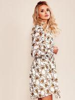 Biała sukienka z printem                                  zdj.                                  3