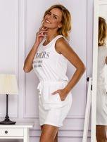 Biała sukienka z troczkami                                  zdj.                                  5