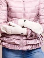 Białe rękawiczki z haftem                                  zdj.                                  5