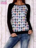 Biało-czarna bluza z sowami                                  zdj.                                  1