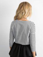 Biało-czarna bluzka damska w paski                                  zdj.                                  2