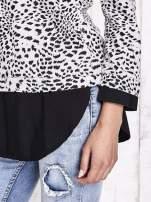 Biało-czarna dwuczęściowa koszula z motywem panterki                                  zdj.                                  7