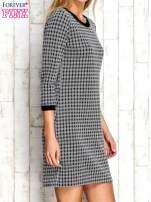 Biało-czarna sukienka motyw plecionki                                  zdj.                                  3