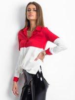 Biało-czerwona koszula damska                                  zdj.                                  3