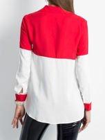Biało-czerwona koszula damska                                  zdj.                                  2