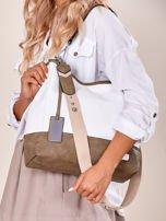 Biało-khaki torba miejska z eko skóry                                  zdj.                                  5
