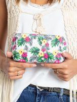 Biało-różowa torba w egzotyczne wzory                                  zdj.                                  4
