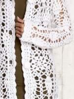 Beżowy długi sweter na guziki                                                                          zdj.                                                                         6