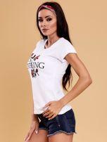 Biały t-shirt damski NOTHING                                  zdj.                                  6