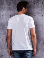 Biały t-shirt męski                                   zdj.                                  2