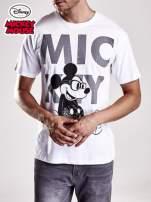 Biały t-shirt męski MICKEY MOUSE                                                                           zdj.                                                                         4