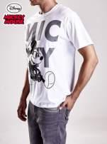 Biały t-shirt męski MICKEY MOUSE                                                                           zdj.                                                                         5